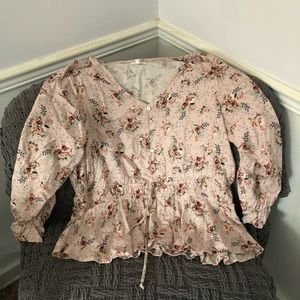 Maurices Plus Size 1 Flowered Blouse
